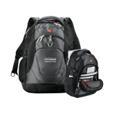 Wenger Swiss Army Tech Charcoal Compu Backpack-Guttman Community College Word Mark