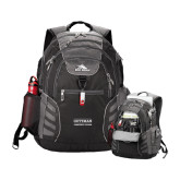 High Sierra Big Wig Black Compu Backpack-Guttman Community College Word Mark