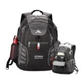 High Sierra Big Wig Black Compu Backpack-Guttman Community College Word Mark