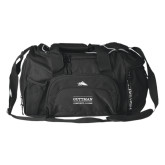 High Sierra Black Switch Blade Duffel-Guttman Community College Word Mark