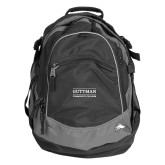 Community College High Sierra Black Titan Day Pack-Guttman Community College Word Mark