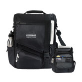 Momentum Black Computer Messenger Bag-Guttman Community College Word Mark