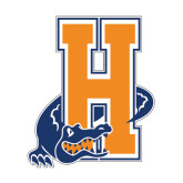 Small Decal-Hostos H w/Alligator, 6 inches tall