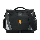 Slope Black/Grey Compu Messenger Bag-Hostos H w/Alligator