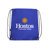 Community College Royal Drawstring Backpack-Hostos Community College w/Sun