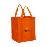 Non Woven Orange Grocery Tote-Hostos Community College w/Sun