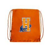 Community College Orange Drawstring Backpack-Hostos H w/Alligator