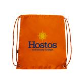 Community College Orange Drawstring Backpack-Hostos Community College w/Sun