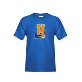 Community College Youth Royal T Shirt-Hostos H w/Alligator