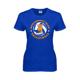 Community College Ladies Royal T Shirt-Hostos Volleyball