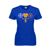 Community College Ladies Royal T Shirt-Hostos Soccer