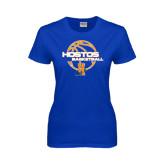 Community College Ladies Royal T Shirt-Hostos Basketball