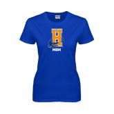 Community College Ladies Royal T Shirt-Hostos Mom
