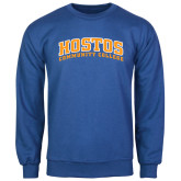 Community College Royal Fleece Crew-Hostos Community College Arch