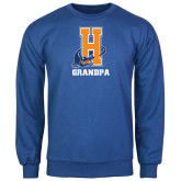 Community College Royal Fleece Crew-Grandpa