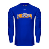 Under Armour Royal Long Sleeve Tech Tee-Hostos Community College Arch