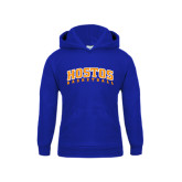 Community College Youth Royal Fleece Hoodie-Hostos Basketball Arch