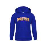 Community College Youth Royal Fleece Hoodie-Hostos Volleyball Arch