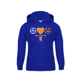 Community College Youth Royal Fleece Hoodie-Hostos Soccer