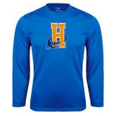 Community College Performance Royal Longsleeve Shirt-Hostos H w/Alligator