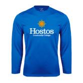 Community College Performance Royal Longsleeve Shirt-Hostos Community College w/Sun