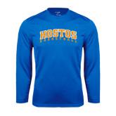 Community College Performance Royal Longsleeve Shirt-Hostos Basketball Arch