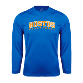 Community College Performance Royal Longsleeve Shirt-Hostos Volleyball Arch