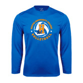 Community College Performance Royal Longsleeve Shirt-Hostos Volleyball