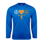 Community College Performance Royal Longsleeve Shirt-Hostos Soccer