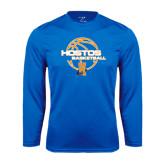 Community College Performance Royal Longsleeve Shirt-Hostos Basketball