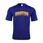 Performance Royal Heather Contender Tee-Hostos Community College Arch