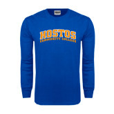 Royal Long Sleeve T Shirt-Hostos Community College Arch