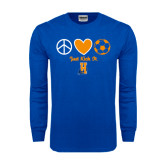 Royal Long Sleeve T Shirt-Hostos Soccer