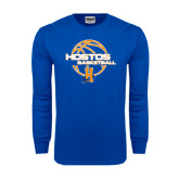 Royal Long Sleeve T Shirt-Hostos Basketball