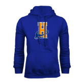 Community College Royal Fleece Hoodie-Hostos H w/Alligator