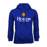 Community College Royal Fleece Hoodie-Hostos Community College w/Sun