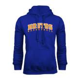 Community College Royal Fleece Hoodie-Hostos Basketball Arch