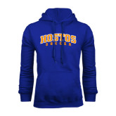 Community College Royal Fleece Hoodie-Hostos Soccer Arch