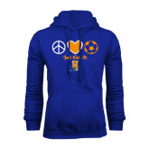 Community College Royal Fleece Hoodie-Hostos Soccer