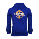 Community College Royal Fleece Hoodie-Hostos Basketball