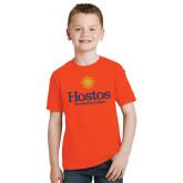 Youth Orange T Shirt-Hostos Community College w/Sun