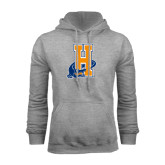 Community College Grey Fleece Hoodie-Hostos H w/Alligator