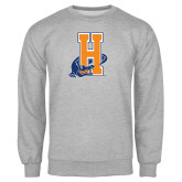 Community College Grey Fleece Crew-Hostos H w/Alligator