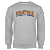 Community College Grey Fleece Crew-Hostos Community College Arch