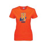 Ladies Orange T Shirt-Mom