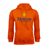 Community College Orange Fleece Hoodie-Hostos Community College w/Sun