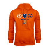Community College Orange Fleece Hoodie-Hostos Soccer