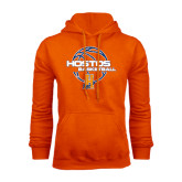 Community College Orange Fleece Hoodie-Hostos Basketball