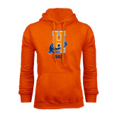 Community College Orange Fleece Hoodie-Dad