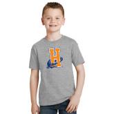 Youth Grey T-Shirt-Hostos H w/Alligator